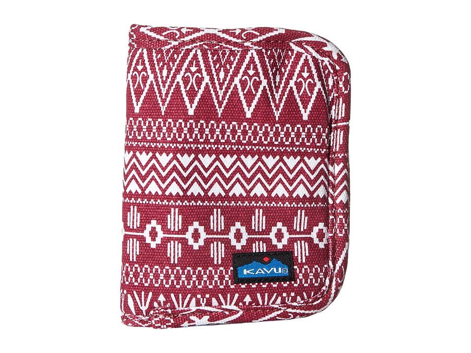 KAVU - Zippy Wallet (Sangria) Bags