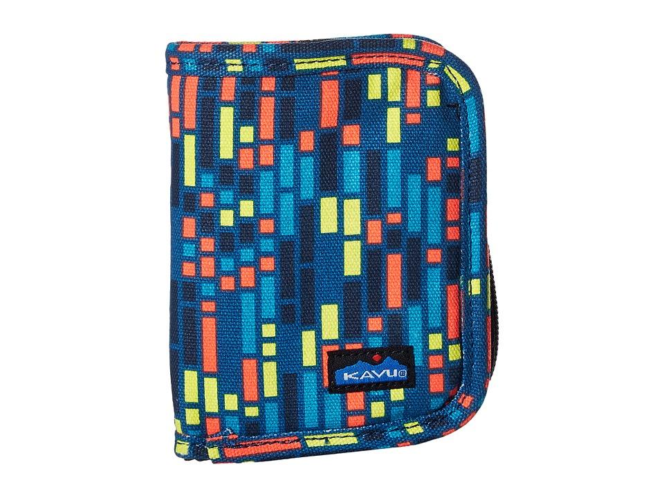 KAVU - Zippy Wallet (Electric Rain) Bags