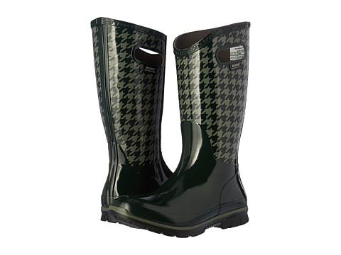 Bogs Berkley Houndstooth Waterproof Boot - Dark Green Multi