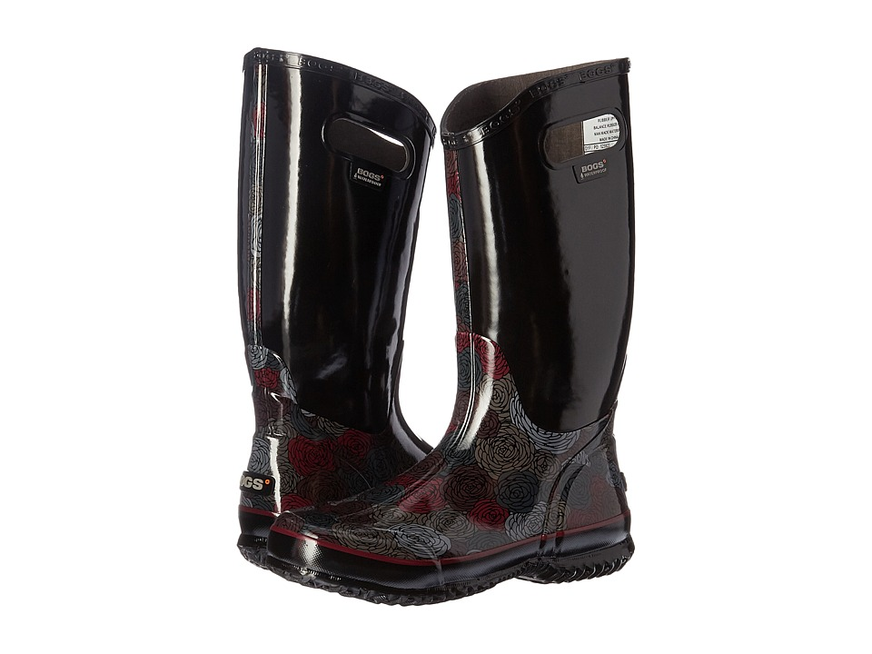 Bogs Rain Boot Rosey (Black Multi) Women