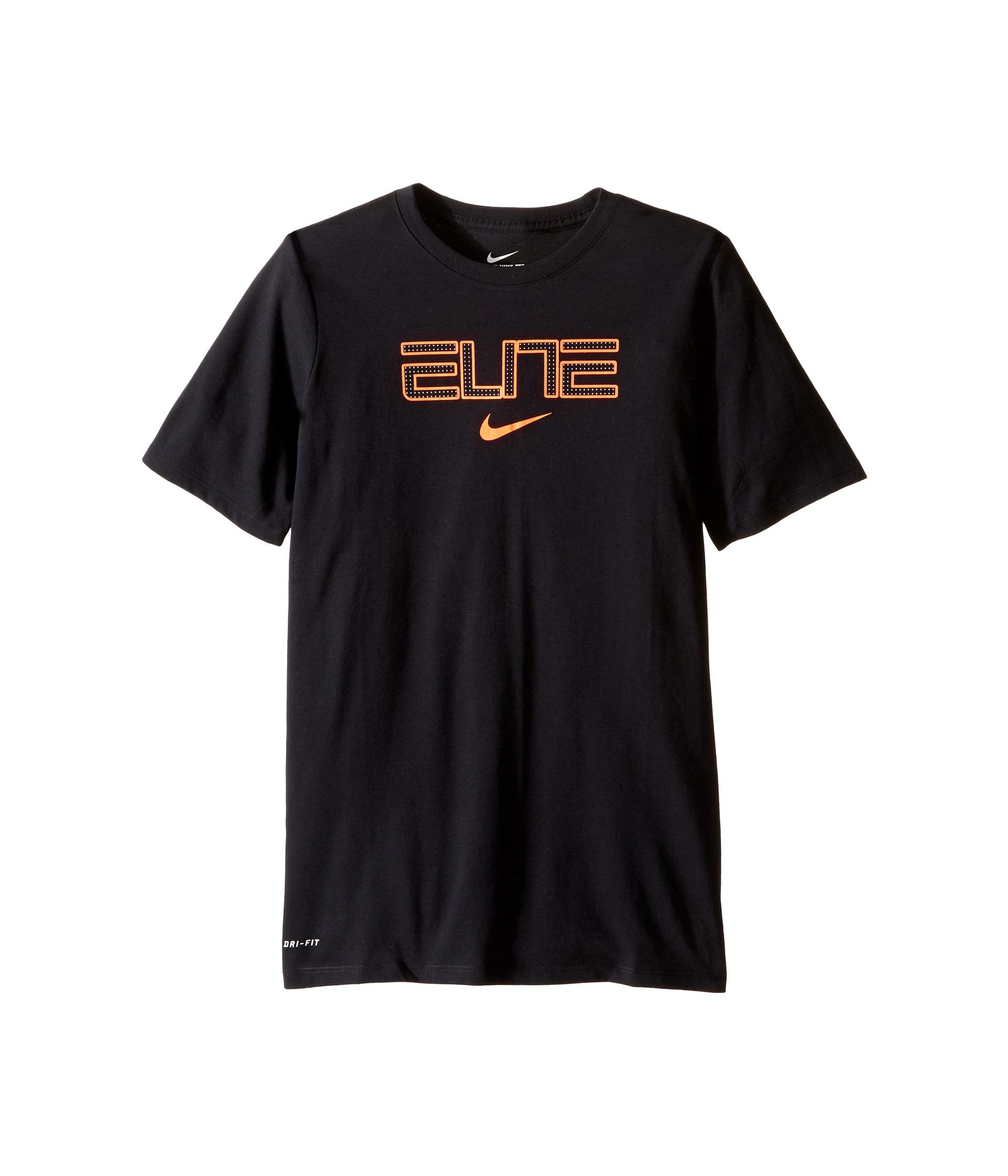nike kids dry elite basketball tshirt little kidsbig