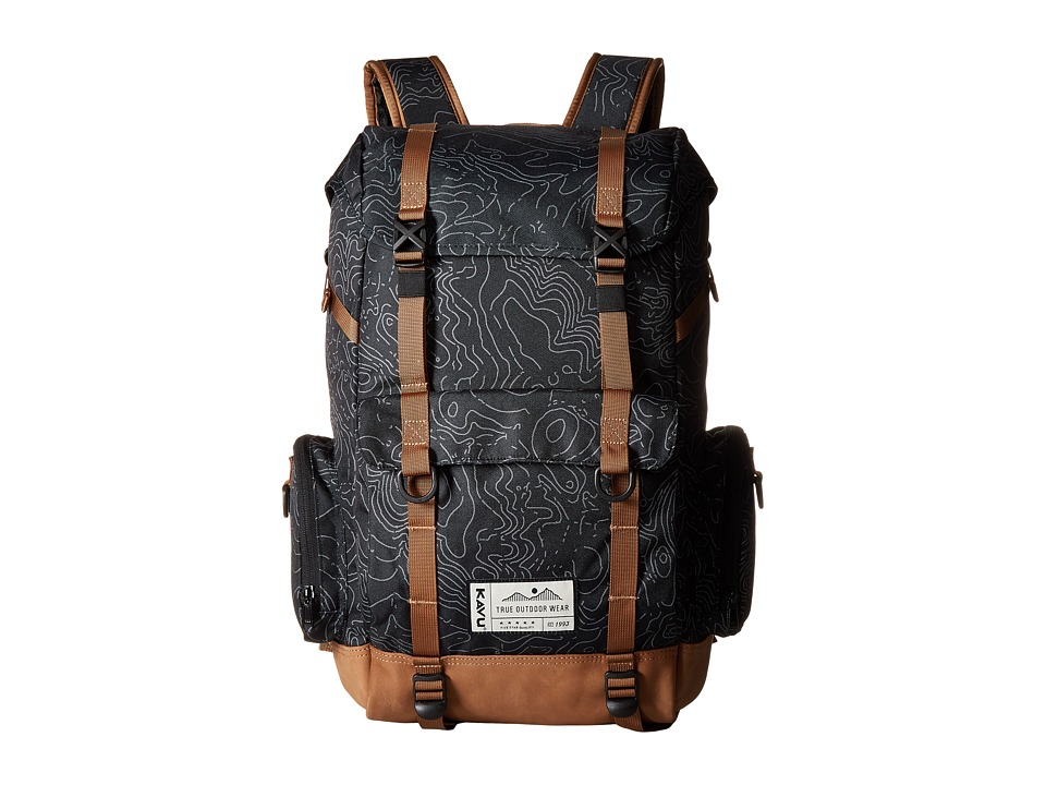 KAVU - Camp Sherman (Black Topo) Bags
