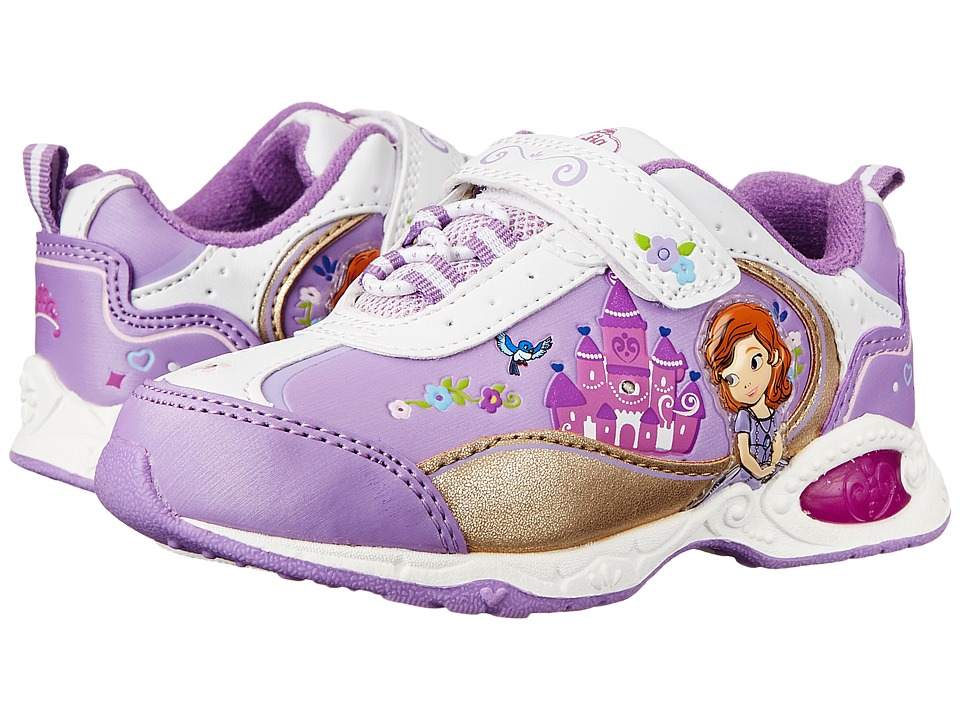 Josmo Kids Sophia Bungee Sneaker Toddler/Little Kid White/Purple Girls Shoes