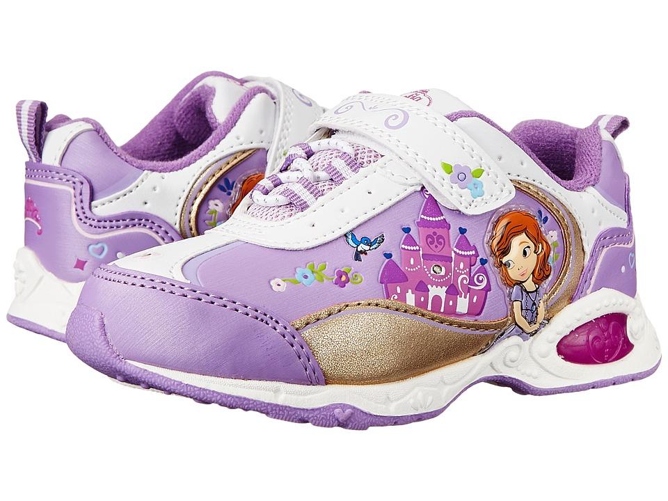 Josmo Kids Sophia Bungee Sneaker Toddler/Little Kid White/Purple Girls Shoes