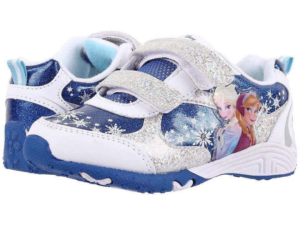 Josmo Kids Frozen Lighted Sneaker Toddler/Little Kid White/Blue Girls Shoes
