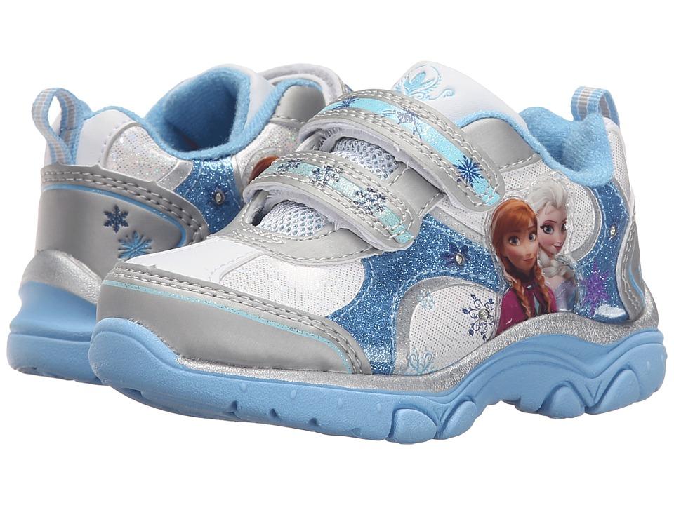 Josmo Kids Frozen Lighted Sneaker Toddler/Little Kid White/Light Blue Girls Shoes