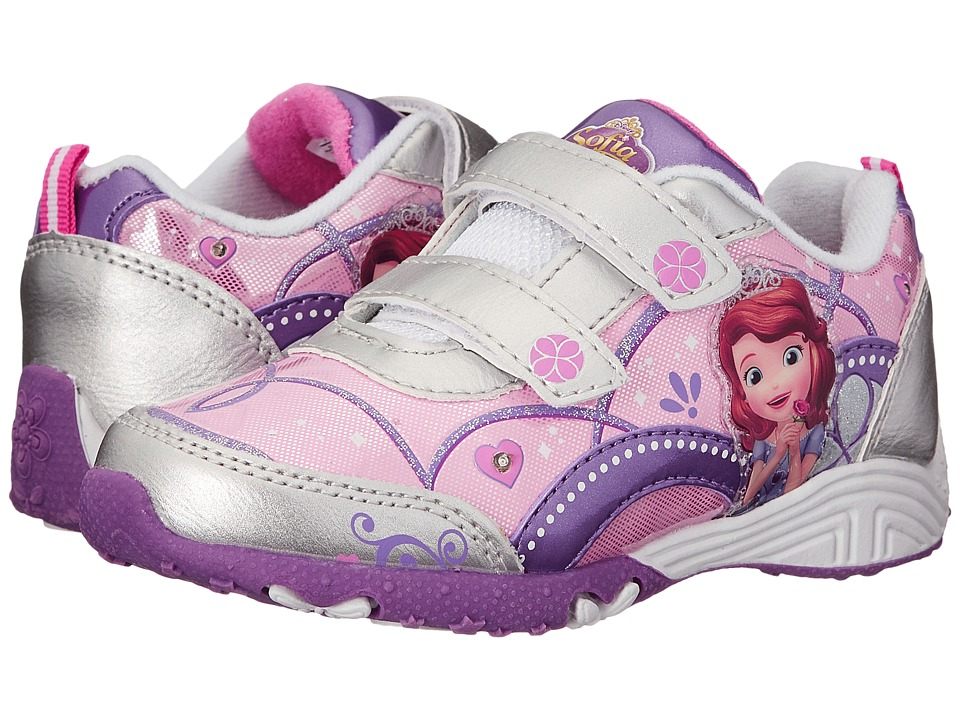 Josmo Kids Sophia Sneaker Toddler/Little Kid Silver/Purple Girls Shoes