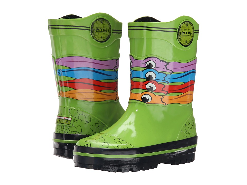 Josmo Kids Ninja Turtle Rain Boot Toddler/Little Kid Green Boys Shoes