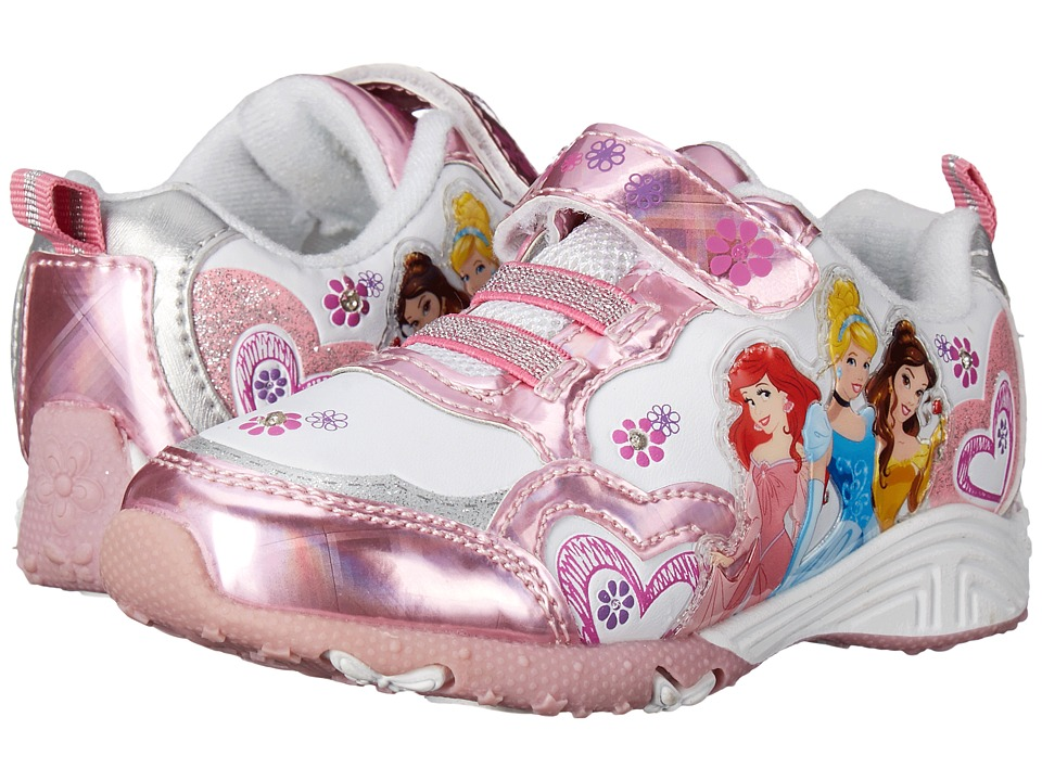 Josmo Kids Princess Sneaker Toddler/Little Kid Pink Metallic/White Girls Shoes