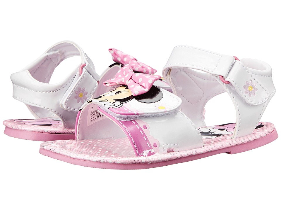 Josmo Kids Minnie Sandal Toddler/Little Kid White/Pink Girls Shoes
