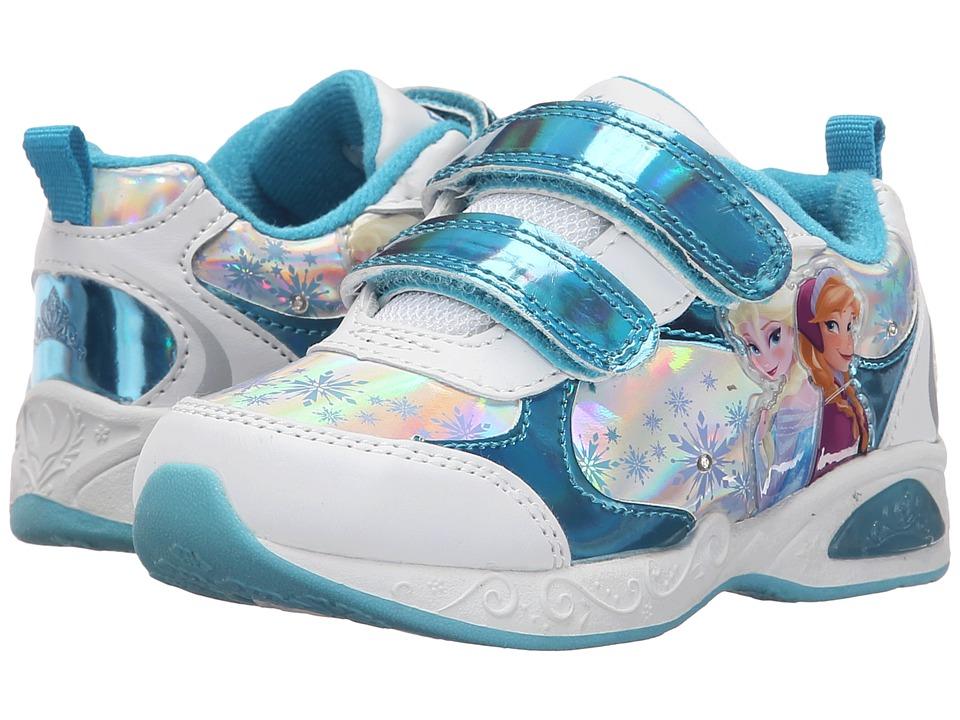 Josmo Kids Frozen Lighted Sneaker Toddler/Little Kid Blue Metallic/White Girls Shoes