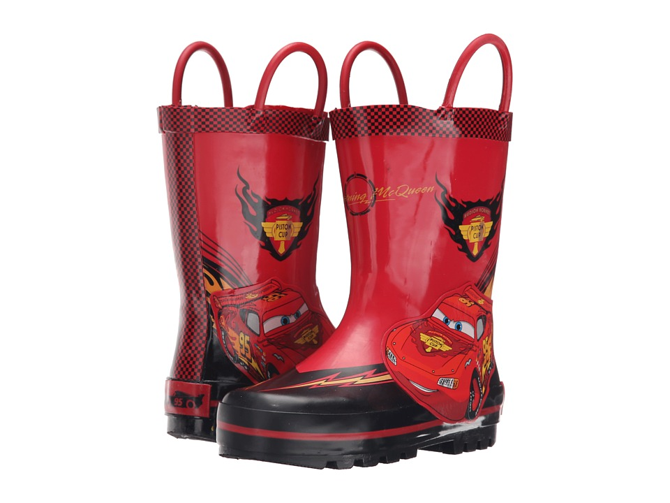 Josmo Kids Cars Rain Boot Toddler/Little Kid Black/Red Boys Shoes