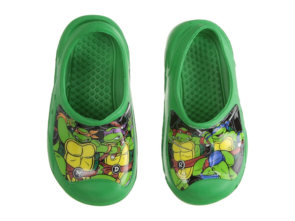 Josmo Kids Ninja Turtle Clog Toddler/Little Kid Green Boys Shoes