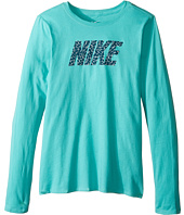 Nike Kids - Cotton Long Sleeve Crew Pattern (Little Kid/Big Kid)