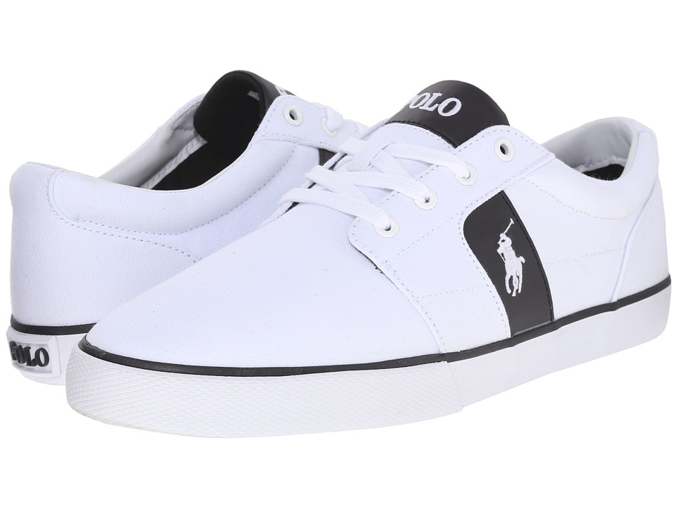 Polo Ralph Lauren - Halmore (Pure White/Black Canvas/PU) Men