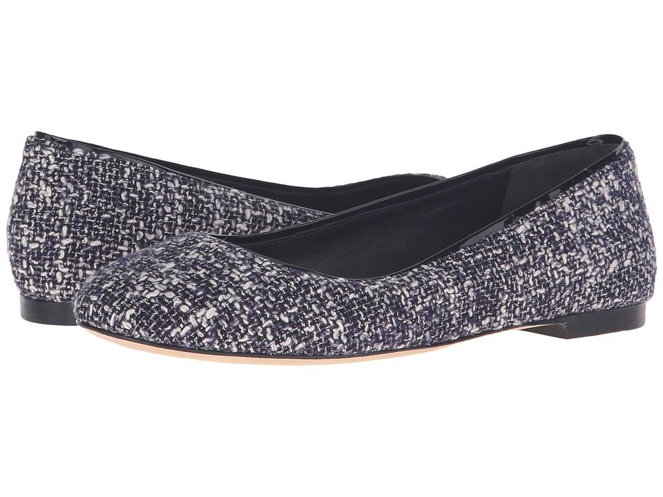 Diane von Furstenberg Cambridge (Navy/White Tweed Fabric) Women