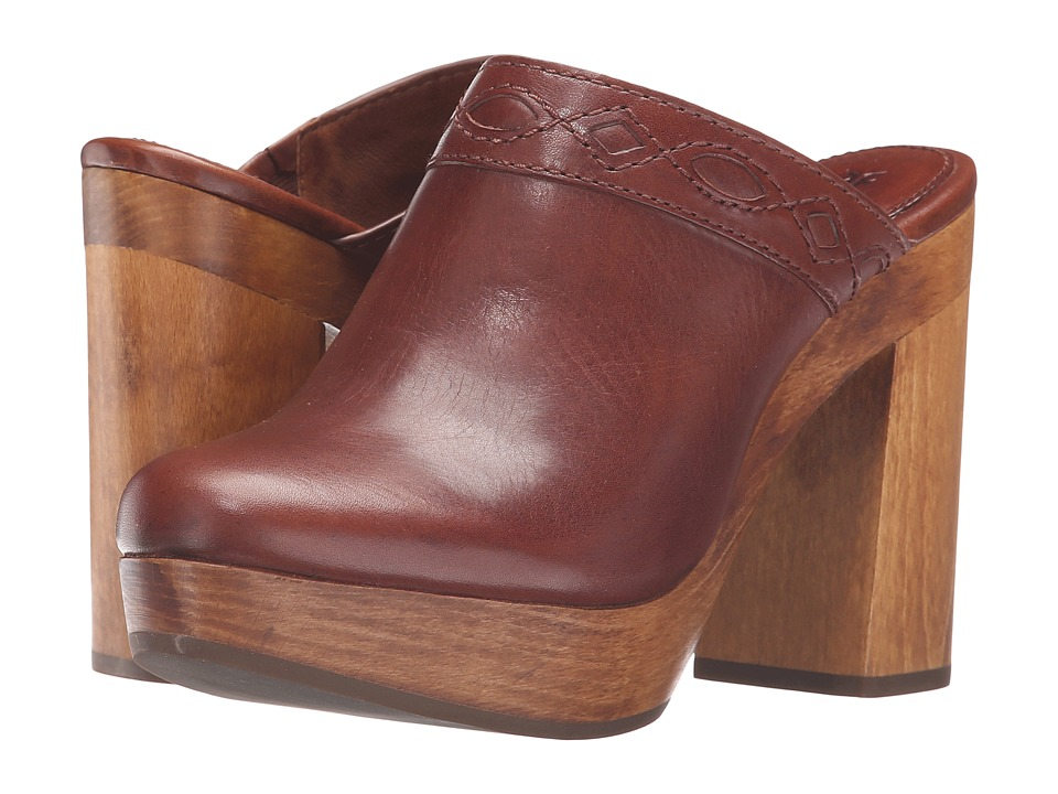 Frye - Emily Clog (Redwood Smooth Vintage Leather) Women