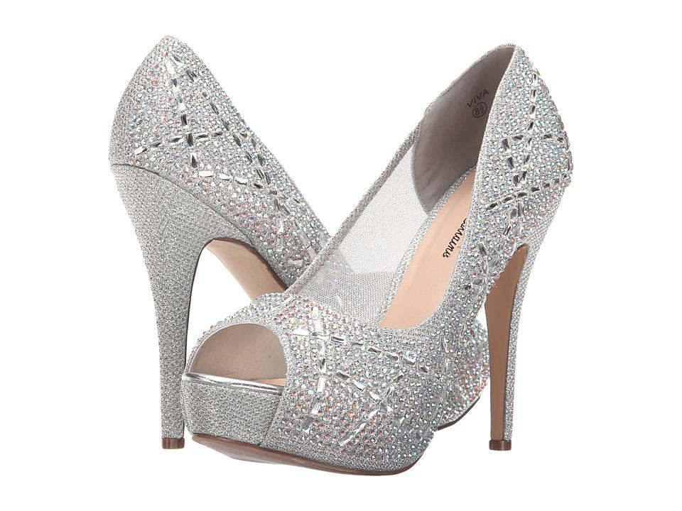 Lauren Lorraine Viva Silver High Heels