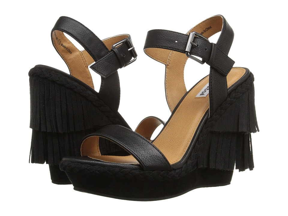 Not Rated Roaring Ruby Black Womens Wedge Shoes