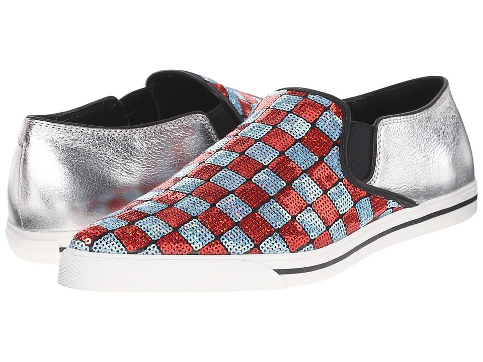Marc Jacobs - Delancey Slip-On Sneaker (Aqua/Red) Women