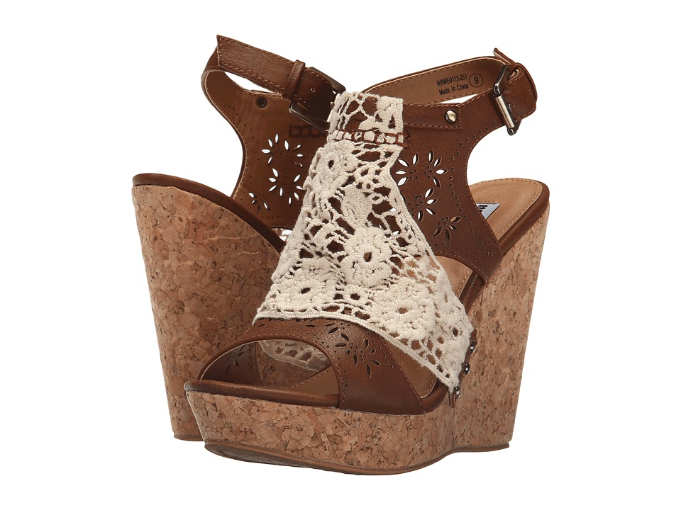 Not Rated Candace Tan Womens Wedge Shoes