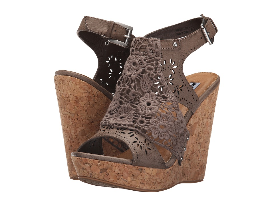 Not Rated Candace Taupe Womens Wedge Shoes