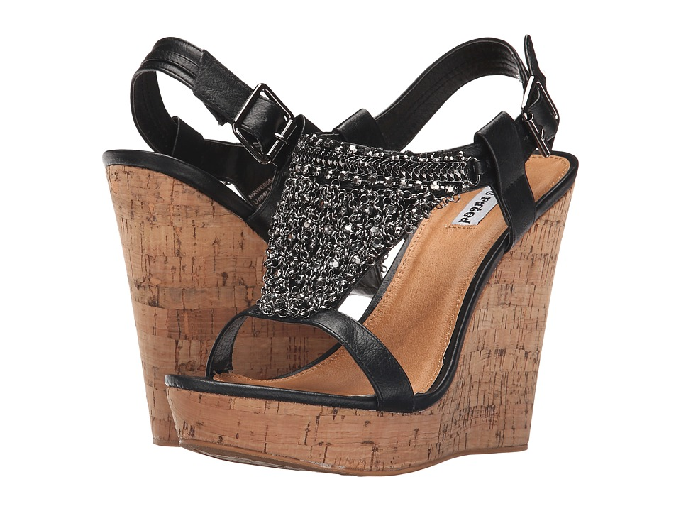 Not Rated Tourmaline Black Womens Wedge Shoes