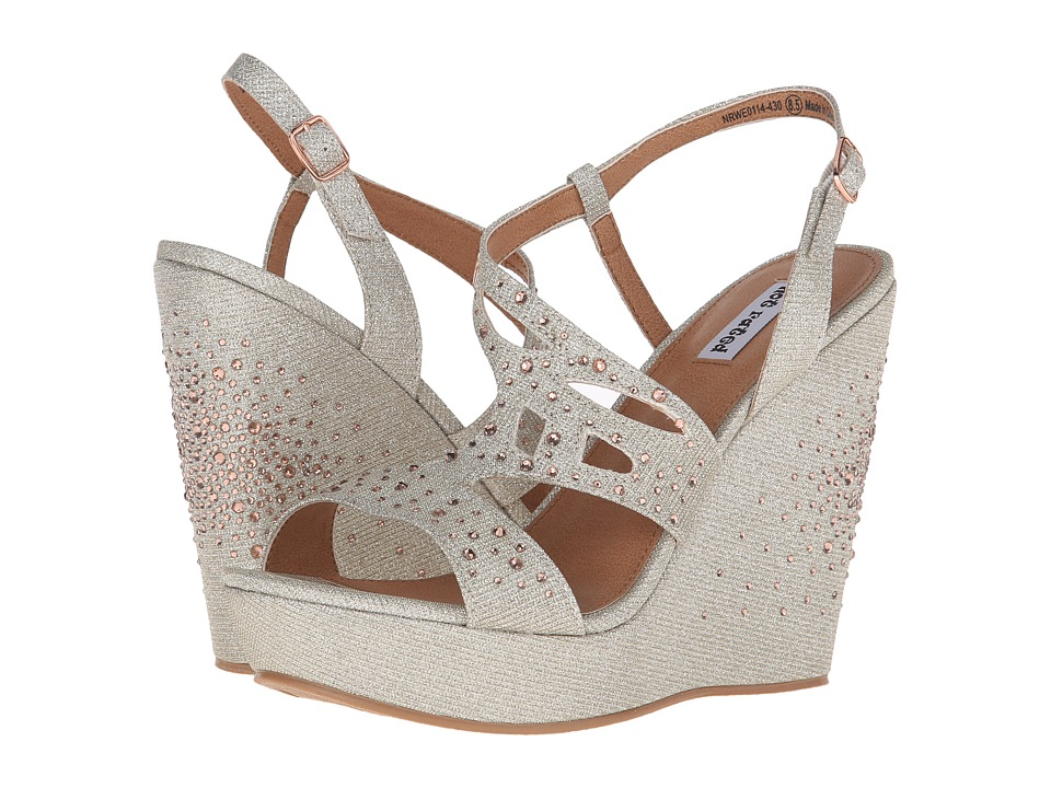 Not Rated Hayman Nude Womens Wedge Shoes