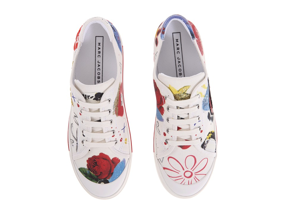Marc Jacobs Christy Pave Lace-Up Sneaker (Off-White Multi) Women