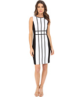 Calvin Klein - Grid Pattern Sheath Dress CD6X17L9