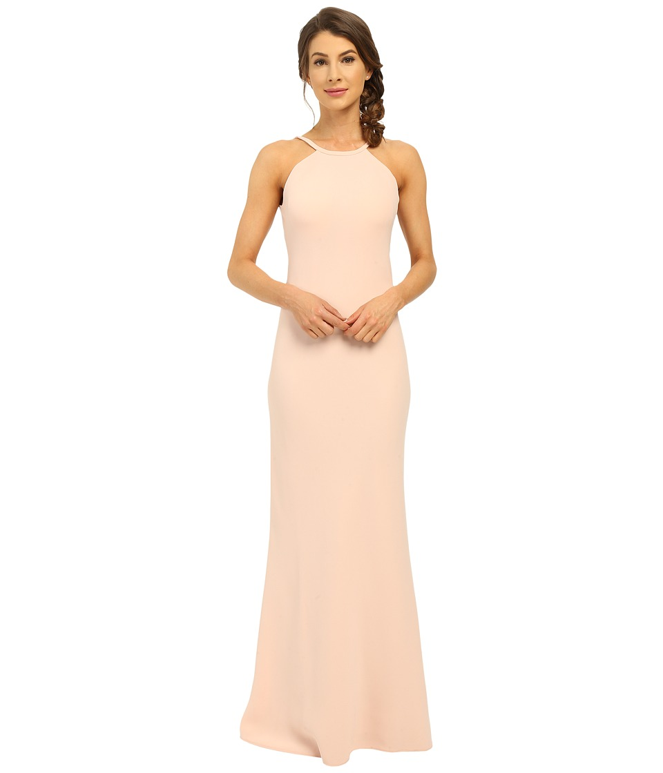 Calvin Klein - Halter Neck Back Less Gown CD6B1850 (Petal) Womens Dress