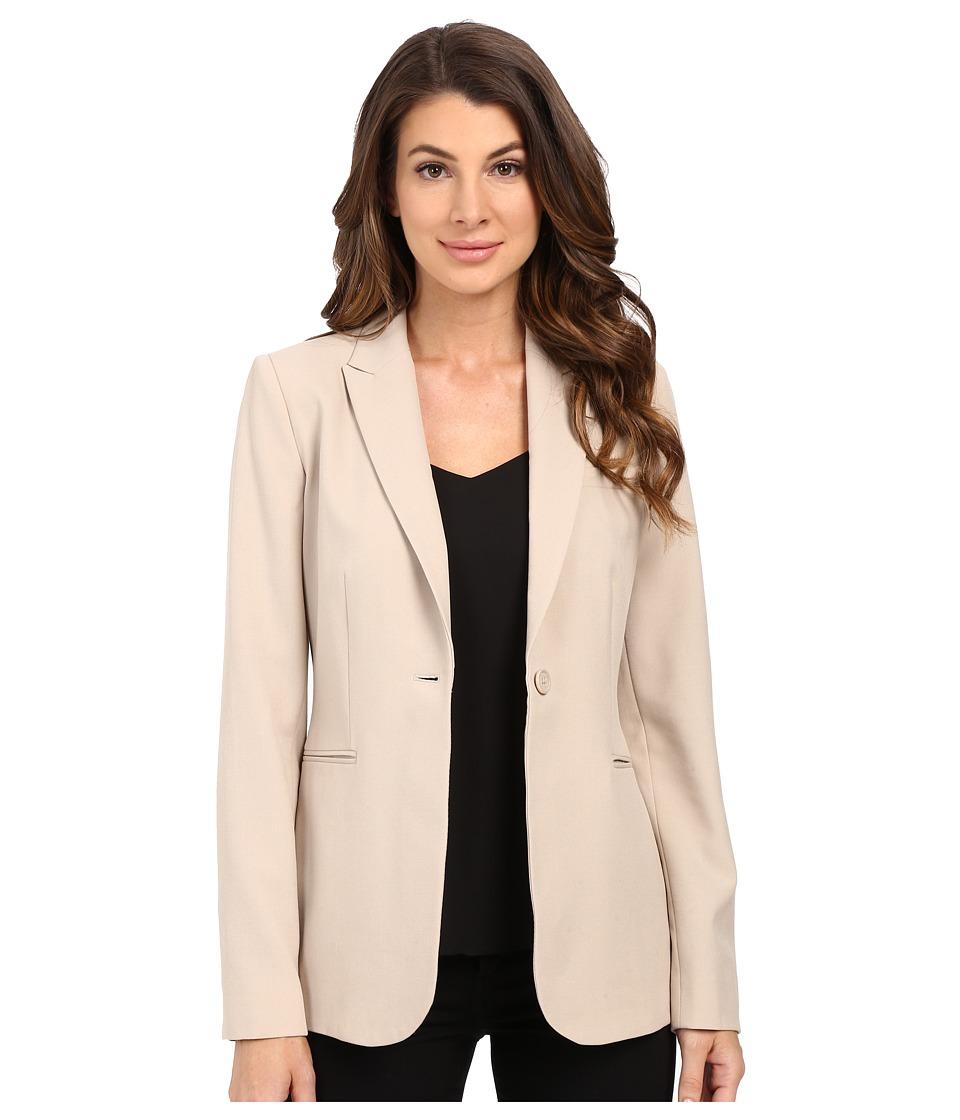 Calvin Klein 1 Button Jacket Latte Womens Jacket