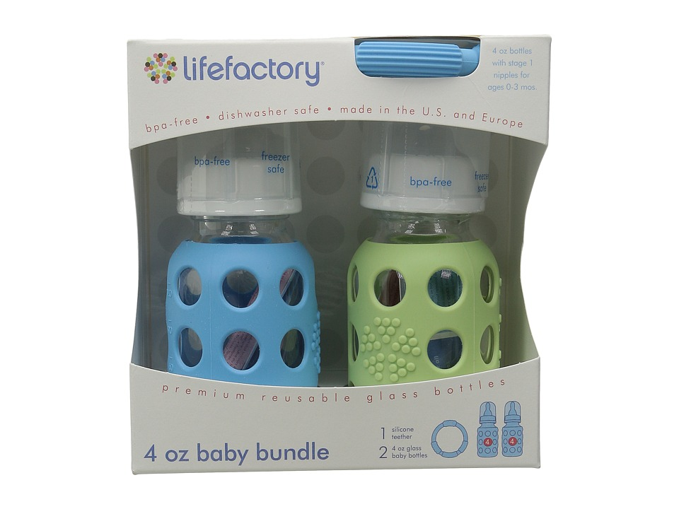 Lifefactory Baby Bundle 4oz Sky/Spring Green Athletic Sports Equipment