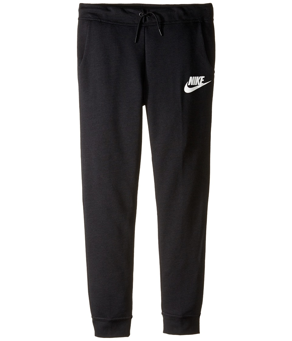 Nike Kids - Sportswear Modern Pant (Little Kid/Big Kid) (Black/Black/Black/White) Girl's Casual Pants