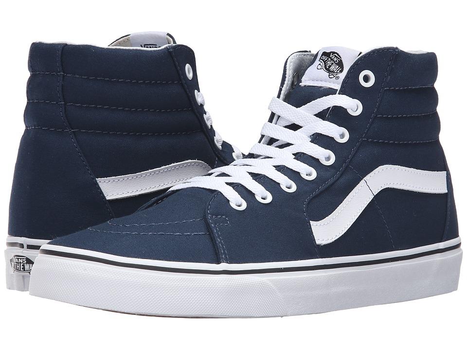 Vans - SK8-Hi ((Canvas) Dress Blues/True White) Skate Shoes