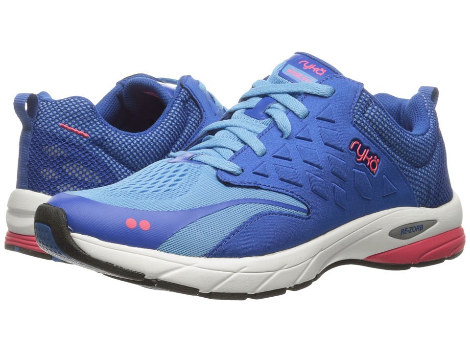 Ryka - Knock Out (Ethereal Blue/Royal Blue/Coral Rose) Women