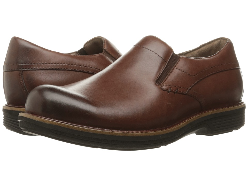 Dansko Jackson (Mahogany Antiqued Calf) Men's Slip on  Shoes
