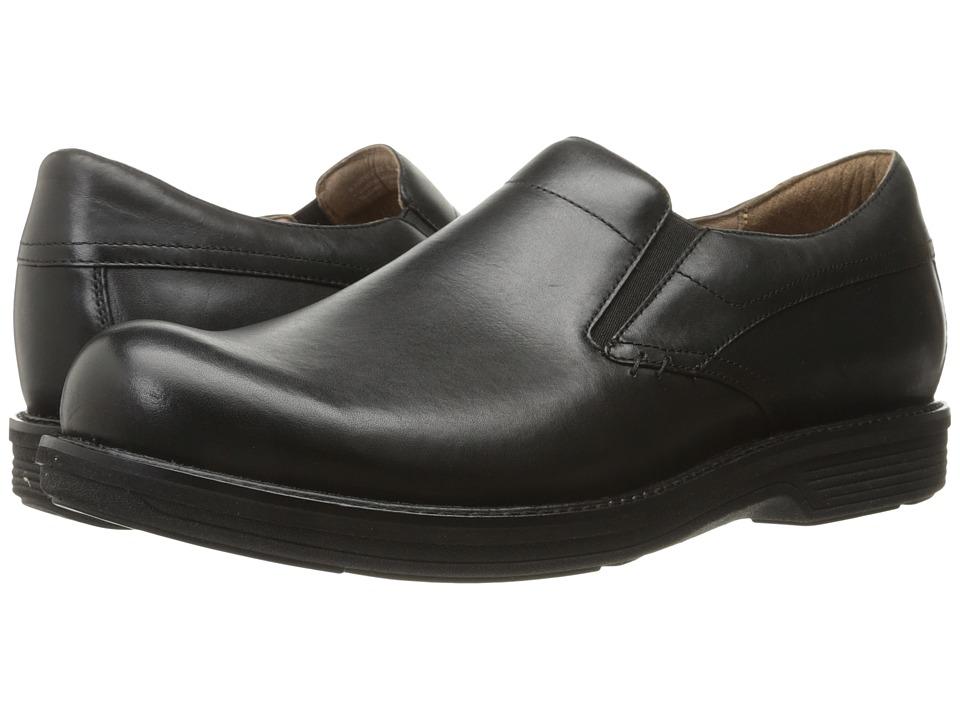 Dansko Jackson (Black Antiqued Calf) Men's Slip on  Shoes