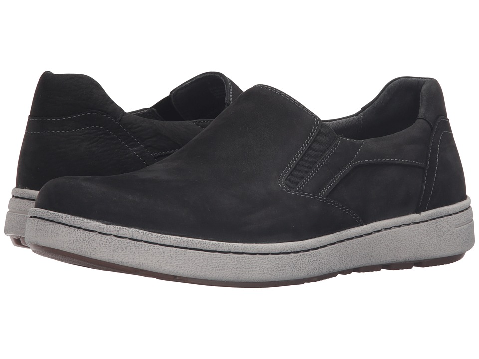 Dansko Viktor (Black Milled Nubuck) Men's Slip on  Shoes