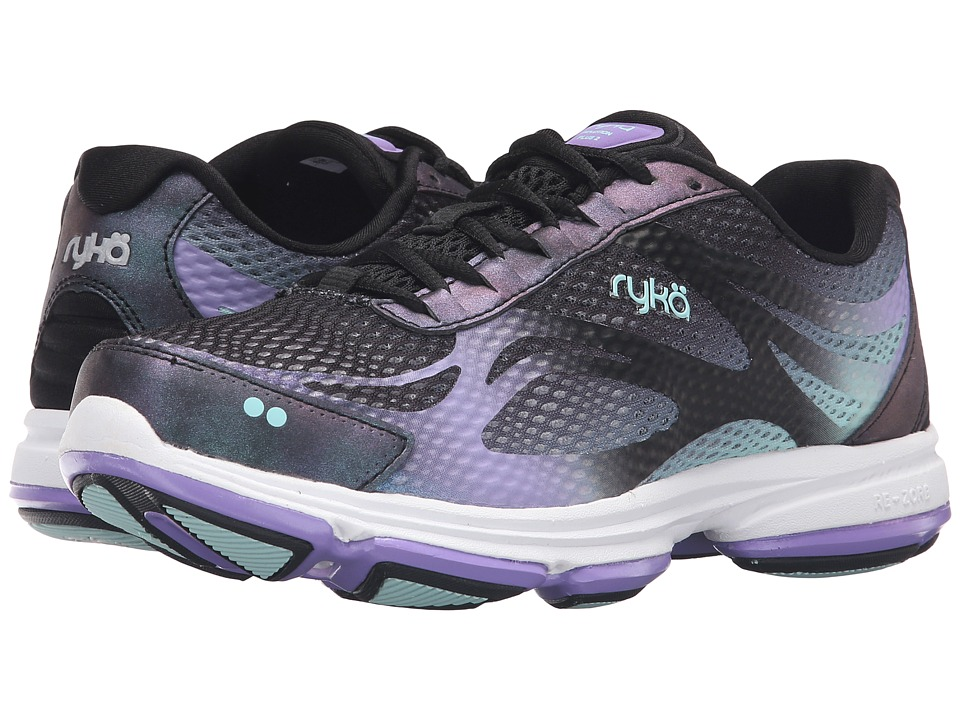 Ryka Devotion Plus 2 (Black/Purple Ice/Eggshell Blue) Wom...