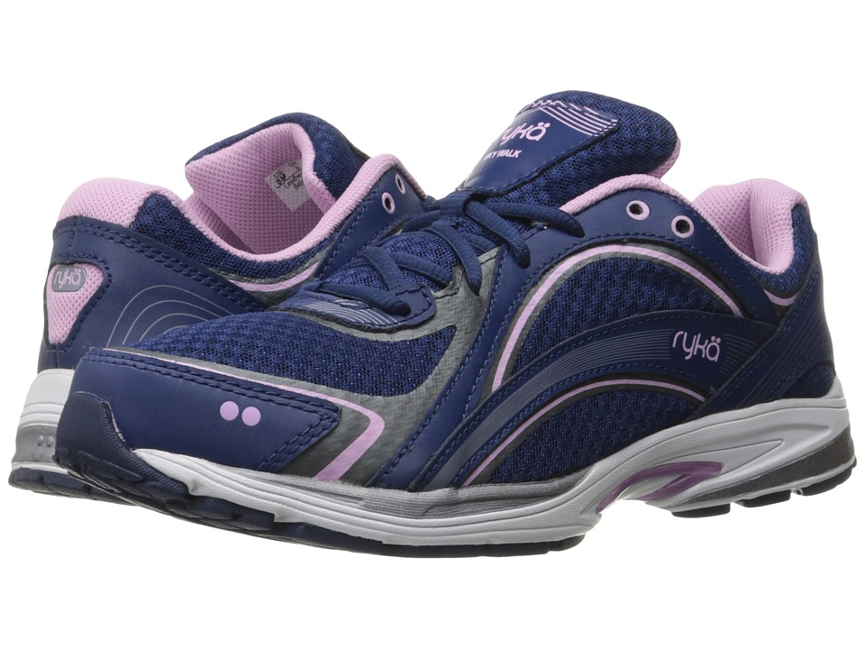Ryka Sky Walk (Jet Ink Blue/Orchid Bouquet/Meteorite) Walking Shoes