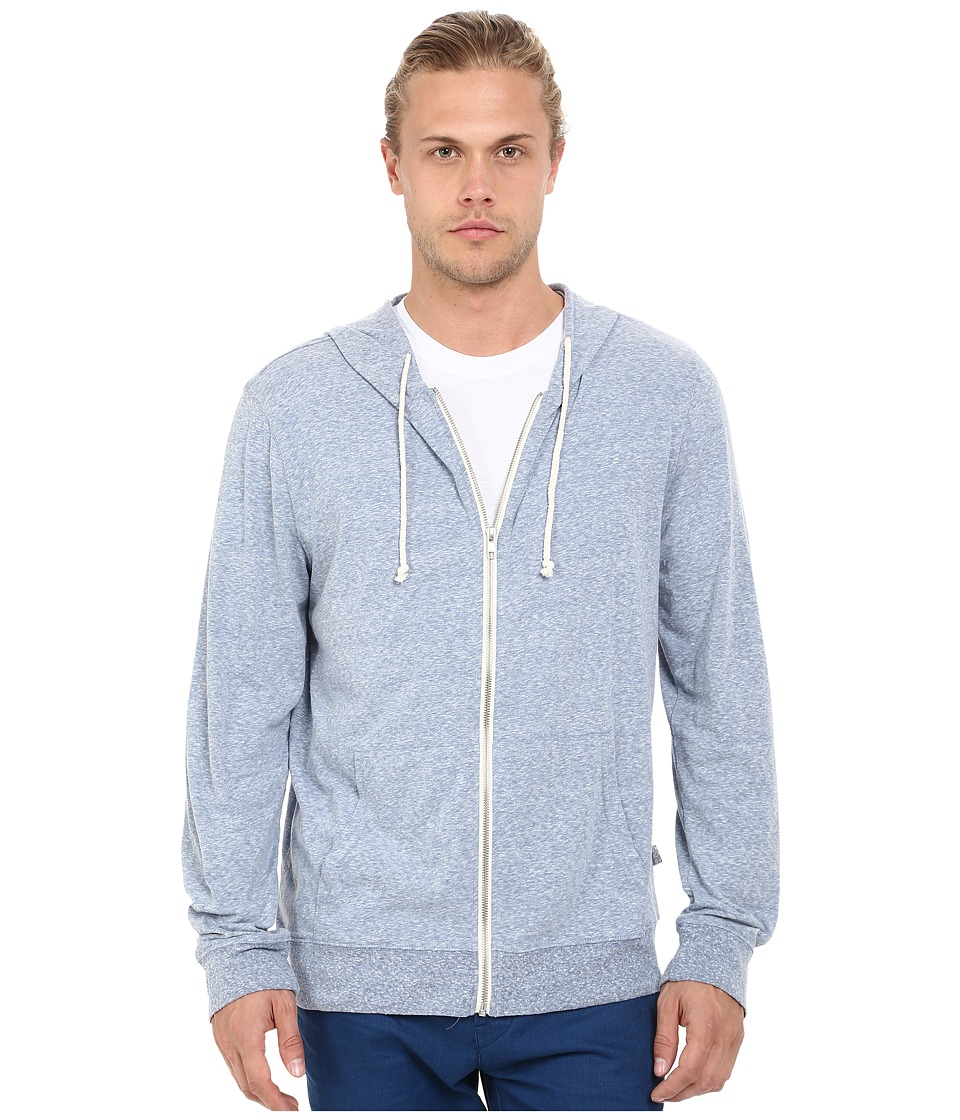 Threads 4 Thought - Giulio Tri-Blend Jersey Hoodie (China Blue) Mens Sweatshirt