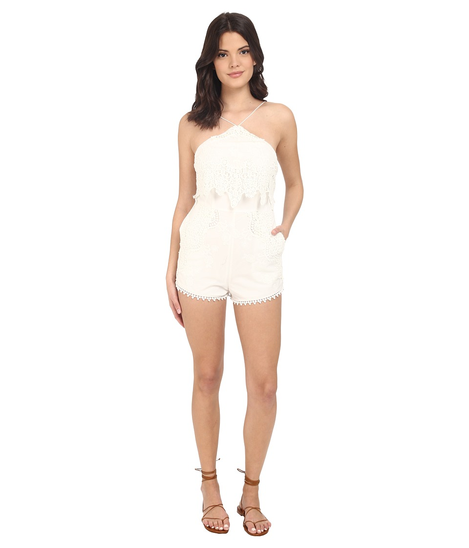 The Jetset Diaries Paradise Romper Ivory Womens Jumpsuit Rompers One Piece