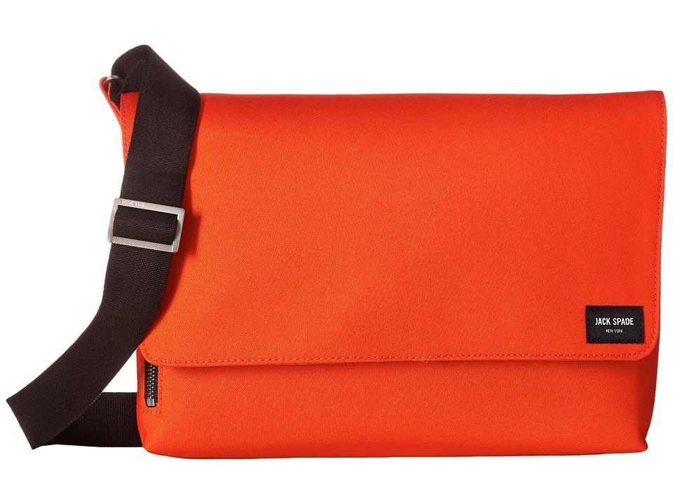Jack Spade - Commuter Nylon Site Messenger (Orange) Messenger Bags