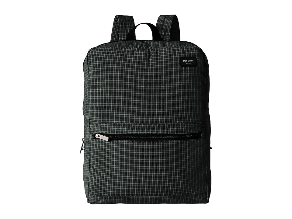 Jack Spade Packable Graph Check Backpack Black Backpack Bags