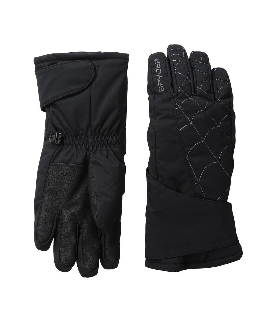 Spyder Kids Mini Overweb Ski Gloves (Toddler/Little Kids/Big Kids) (Black/Polar) Ski Gloves