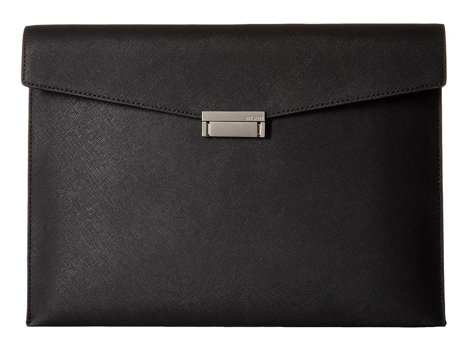 Jack Spade Barrow Leather Portfolio Black Bags