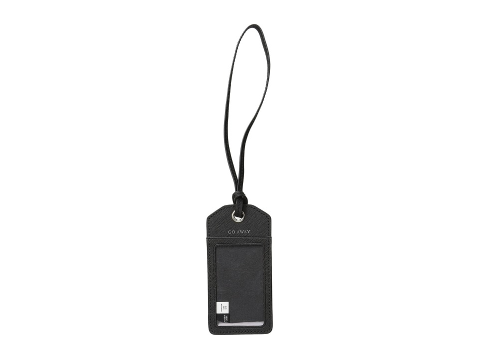 Jack Spade Barrow Leather Luggage Tag Black Wallet