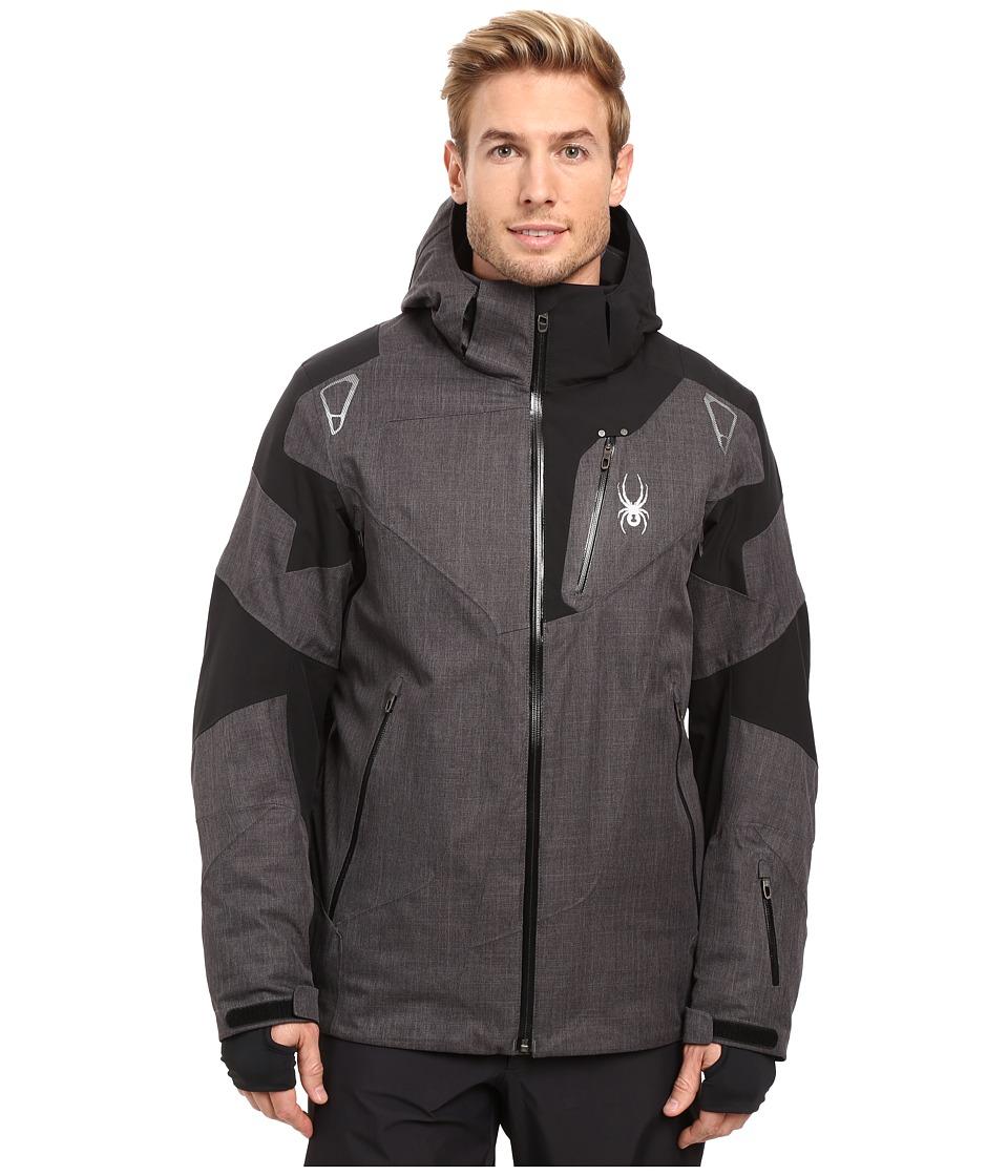 Spyder Leader Jacket Polar CrosshatchBlackPolar Crosshatch Mens Jacket