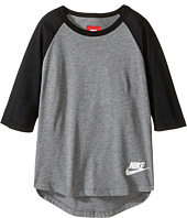 Nike Kids - Sportswear 3/4 Sleeve Top (Little Kid/Big Kid)
